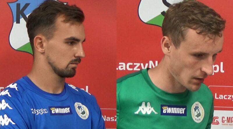 Maciej Krakowiak i Mateusz Mączyński po meczu z Olimpią Elbląg